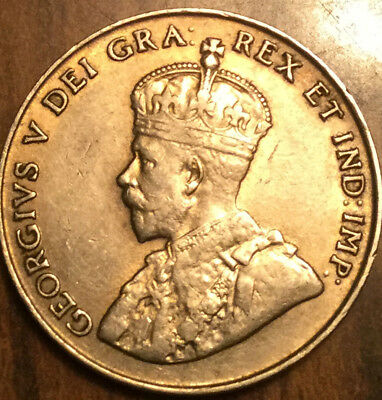 1922 CANADA 5 CENTS KING GEORGE V COIN - A nicer example!