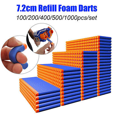 100Pcs Nerf Darts Refill Nerf Bullets Round Head Blasters For Nerf Gun N-Strike