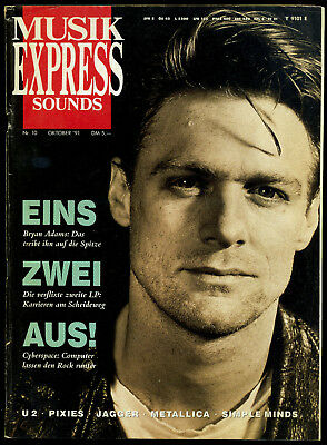 Musik Express Sounds -- 1991 - Nr. 10 - Bryn Adams -- Mick Jagger -- Metallica -