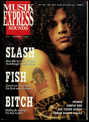 Musik Express Sounds -- 1991 - Nr. 11 - Prince -- Simply Red - Toten Hosen --