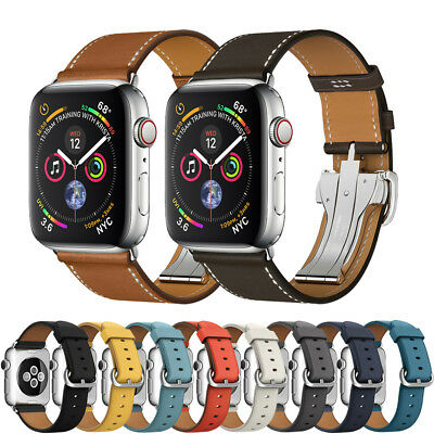 Apple Watch 1/2/3/4 40/44mm Bands Genuine Leather Watch Strap Bracelet Wrist For