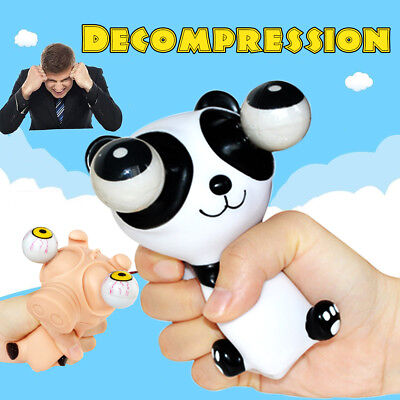 AU Cartoon Animal Anxiety Squeeze Pop Toy Out Big Eyes Doll Stress Relief Gifts