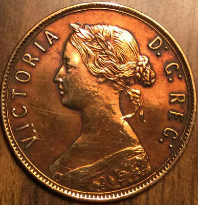 1894 NEWFOUNDLAND LARGE 1 CENT- Best of Circ. Condition but cleaned/polished