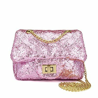 bdb6a57f4 Kids Sparkly Glitter Toddler Kids Purse for Girls Quilted Little Girl Purses