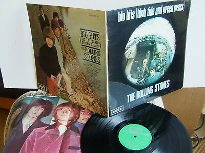 The Rolling Stones  Big Hits High Tide & Green Grass TXS 101 UK LP Decca +poster