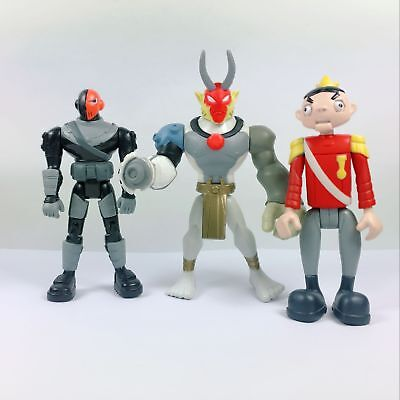 3pcs Dc Comics Universe Teen Titans Go Slade Bandai The Puppet King Figure Toy