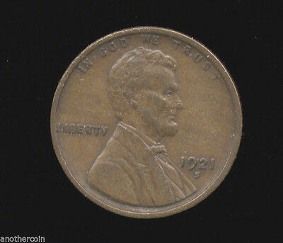 1921-S   **   XF  EF  Extra  Fine   **   Lincoln Cent (211-111)