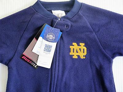 NCAA University of Notre Dame Footed Pajamas 12 Months NEW! FREE SHIPPING!