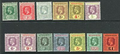 NORTHERN NIGERIA-1912  A mounted mint set to £1 Sg 40-52