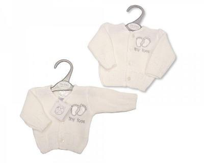 Premature preemie Baby Boy/girl Tiny Toes Clothes Cardigan White 3-5lbs 5-8lbs