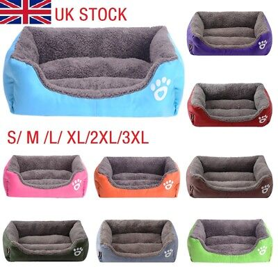 Large Pet Dog Cat Bed Puppy Cushion Soft Warm Kennel Mat Blanket Washable S-3XL
