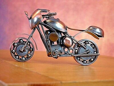 Hand Made Stylish Nuts&Bolts Road Bike Motor Sculpture Ornament Christmas Gift