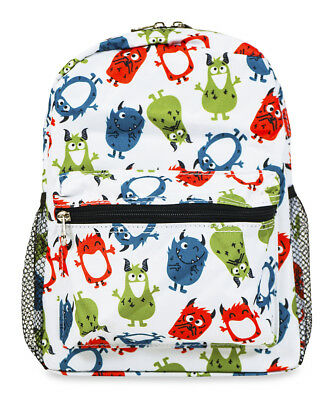 Jenzys Boys Cute Monster Mini Toddler Backpack Bag For Preschool or Kindergarden