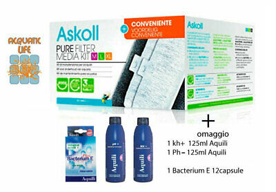 Askoll - Pure Filter Media Kit Ricambio Filtri Pure M L Xl Completo Conveniente