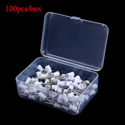 100xDental  Bowl White Brushes Latch Polisher Type Polishing Prophy Cup Tooth UK