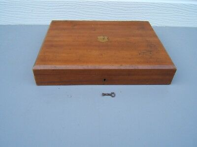 Cutlery box vintage  locking with key brass insert ideal for pistol case  CB1