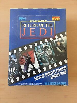 1983 Topps Return Of The Jedi Series 1 Sealed Box!!! All Original Wrapping