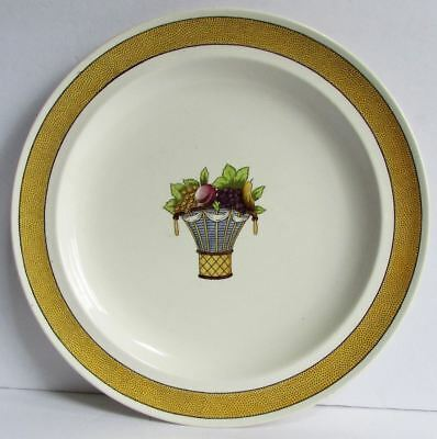 "Vintage Wedgwood Directoire Yellow Band 10"" Dinner Plate (s) Multiple Available"