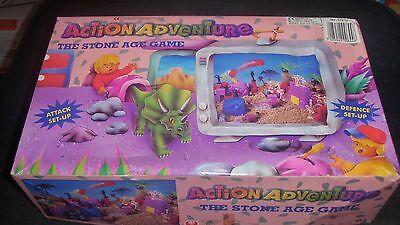 Ultra Rare Action Adventure The Stone Age Game Cave Man Dinosaurs Complete