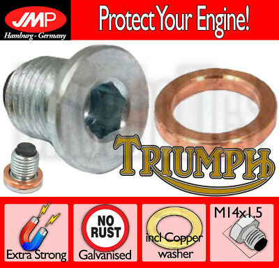 Magnetic Oil Drain Plug + Washer M14x1.5 for Triumph Speedmaster