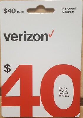$40 Verizon Wireless Prepaid Refill Card (Email Delivery)