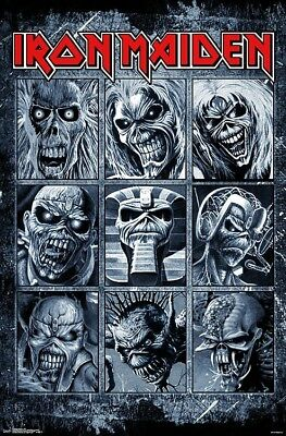 IRON MAIDEN - GRID POSTER - 22x34 - MUSIC 17168