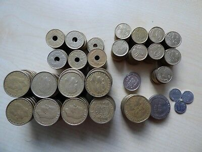 Spain 5 500 Spanish Peseta Coins Esp 17115 Change Lot Old Holiday Money Pre Euro