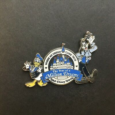 WDW The Year of a Million Dreams Goofy and Donald Duck Disney Pin 49898