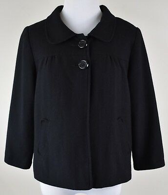 Women's Size Small S Motherhood Maternity Black Lined Two Pocket Blazer Jacket