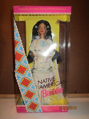1992 Mattel Native American Indian Barbie Dolls of the World NRFB NEW