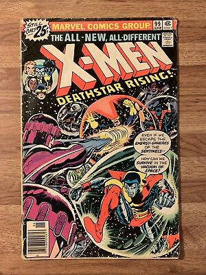 X-MEN #99 (Marvel 1976) Sentinels~1st Black Tom Cassidy~DeathStar~Bronze Age Key