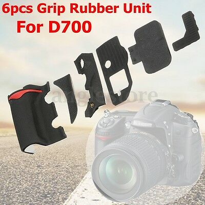6 Pieces Digital Camera Body Rubber Shell Cover Repair Part For Nikon D700 US