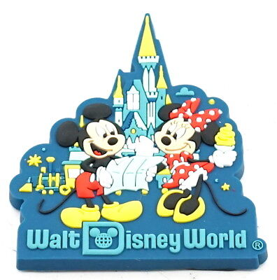 Disney Parks Walt Disney World Mickey And Minnie With Cinderella's Castle Magnet