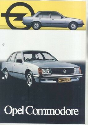 1983 Opel South Africa Commodore Brochure English Afrikaans wz8222