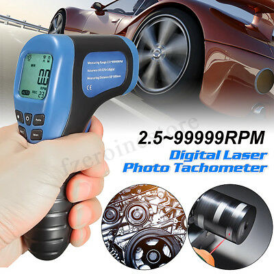 LCD Digital Laser Photo Tachometer Speed Gauge Gun RPM Tach Tester Meter