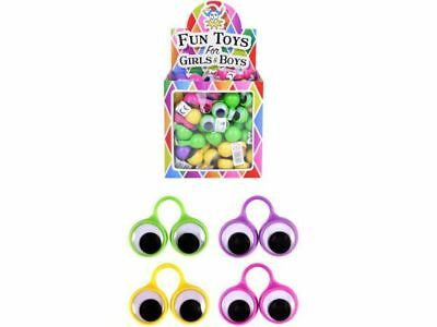 JOB LOT of 90 GOOGLEY EYE RINGS Party Bag Toy Wholesale Bulk Buy Goggle Goggly