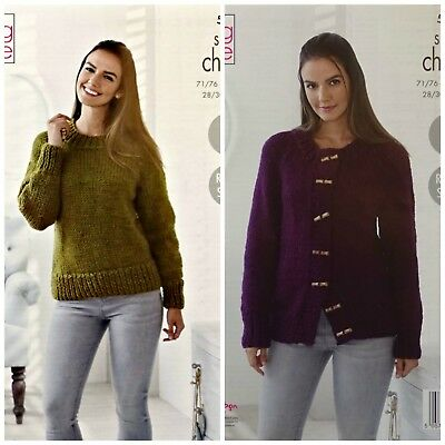 a7fb7ba6d KNITTING PATTERN Womens Easy Knit Jumper and Jacket Super Chunky King Cole  5337