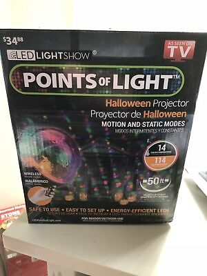 HALLOWEEN LIGHTSHOW PROJECTION-POINTS of Light-114 Programs Decor  Decoration New