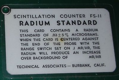 RADIUM Calibration Card Standard (RARE)