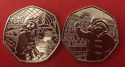 2018 Paddington Bear 50p Coins Both Designs Palace And Station Brand New