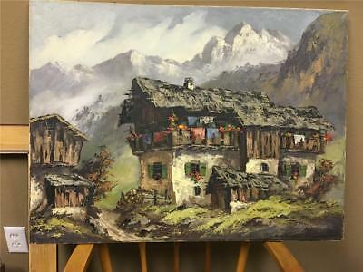 "Oil Painting on Canvas Friederike Rohr-Hecker 30"" wide x 23"" high Estate Find"