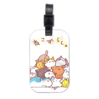 Many Lazy Cat Kitten Wood Travel Bag Luggage Tag Accessory