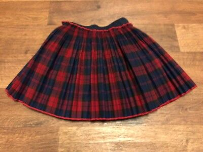Unbranded Skirt Pleated Toddler Baby Girl Size 24 Months Red Blue Black Plaid