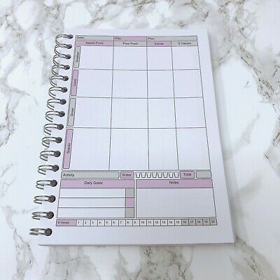 Food Diary Slimming World Diet Weight Loss Tracker Journal Planner Notebook 1