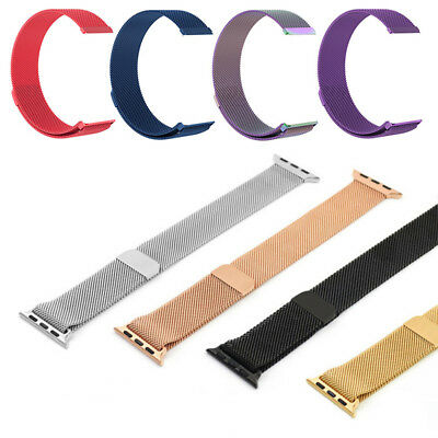 For Apple Watch Series 2/3/4 40/44mm Stainless Steel Strap Band iWatch Charm