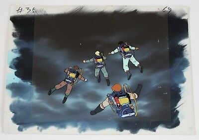 Rare The Real Ghostbusters 1980s Cartoon Producton Animation Art Layered Cel