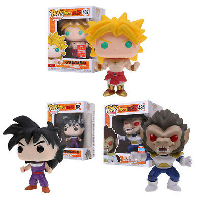Funko Pop! Dragon Ball Z :#402 Super Saiyan Broly, GOHAN,Great APE Vegeta Figure