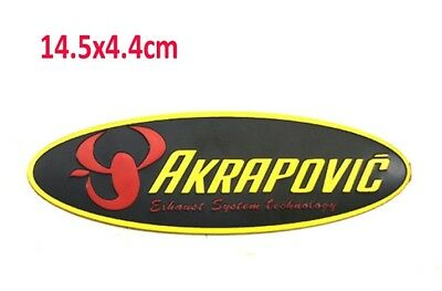AKRAPOVIC 3D Aluminium Motorcycle Exhaust Pipes Decal Sticker Scorpio 3M