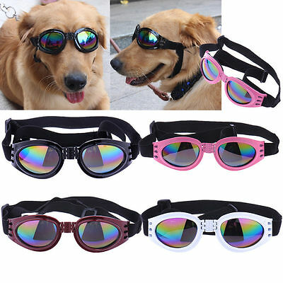 Adjustable Pet Dog Goggles Sunglasses AntiUV Sun Glasses Eye Wear Protection Red