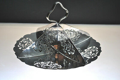 Antique Silver Plated Four Compartment Condiment / Candy Dish